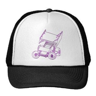 Purple sprint skewed trucker hat