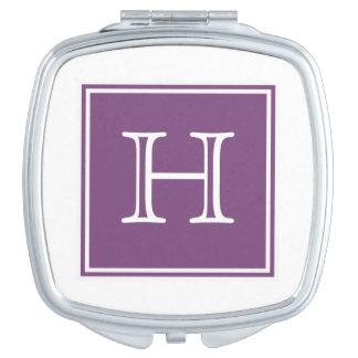 Purple Square Monogram Compact Mirror