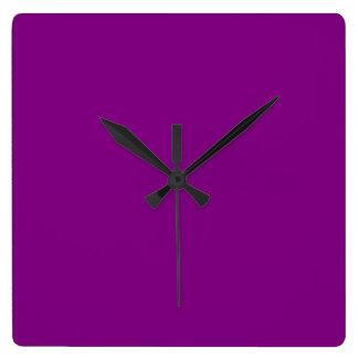Purple Square Wall Clock