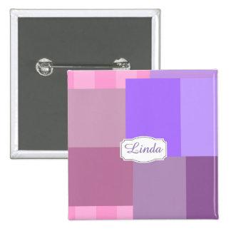 Purple squares&rectangles 2 inch square button