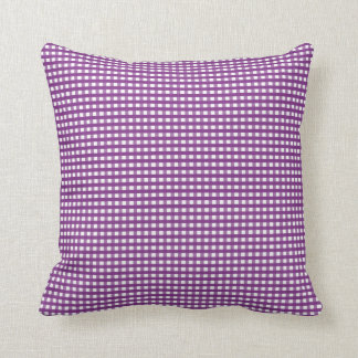 Purple Squares Throw Pillow