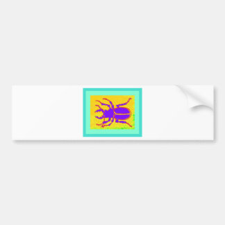 Purple Staghorn Beetle by Sharles Bumper Stickers