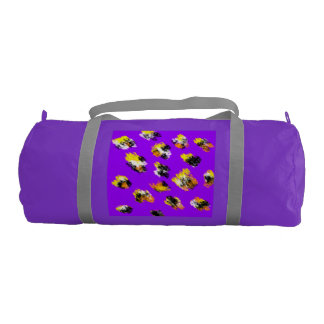 Purple stained duffle gym bag.