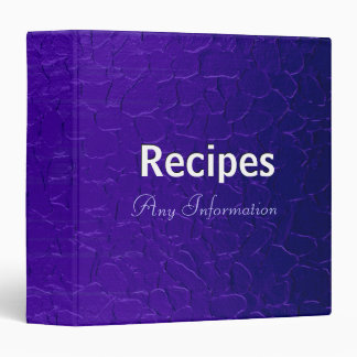 Purple stainless steel metal | Recipes binders