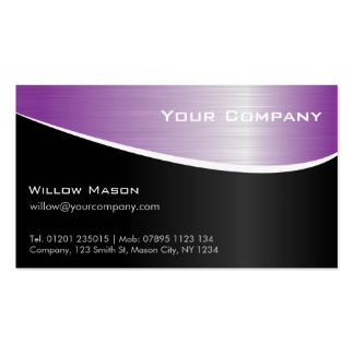 Purple Stainless Steel, Professional Business Card