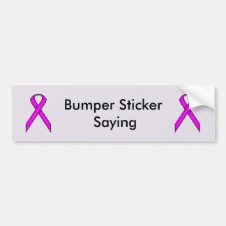 Purple Standard Ribbon by Kenneth Yoncich Bumper Sticker