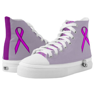 Purple Standard Ribbon by Kenneth Yoncich High Tops