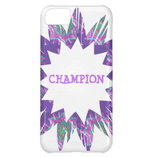 PURPLE Star: CHAMPION Script iPhone 5C Covers