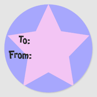 Purple Star Gift Tag Sticker
