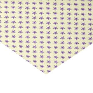 Purple star Glossy Tissue Paper