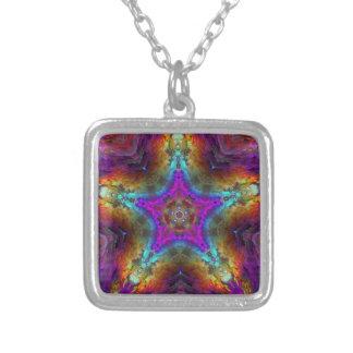 Purple STAR Mandala Pendant