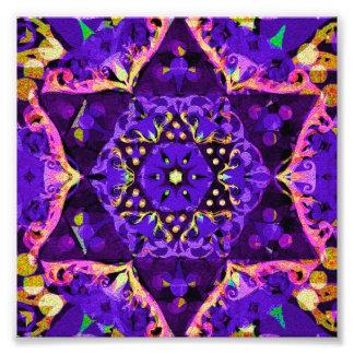 Purple Star Mandala Photographic Print