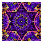 Purple Star Mandala Poster