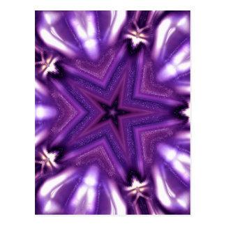 Purple star postcard