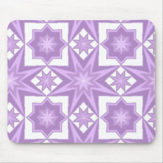Purple Star Quilt Pattern Mouse Pad