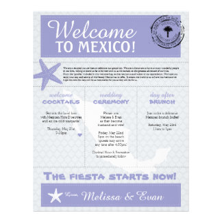 Purple Starfish Cabo Mexico Welcome Letter Letterhead