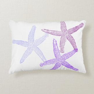 Purple starfish pillow