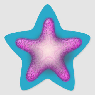 Purple Starfish Stickers