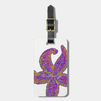 purple starfish Thunder_Cove any color Luggage Tag