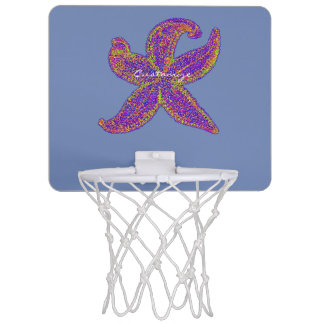 purple starfish Thunder_Cove any color Mini Basketball Hoop