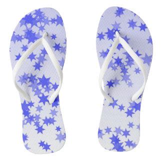 Purple  Stars Flip Flops