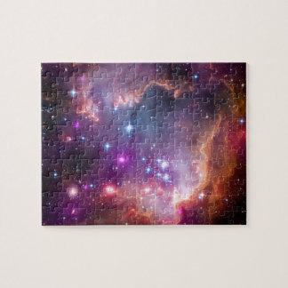 Purple Stars Galaxy Space Astronomy Jigsaw Puzzle