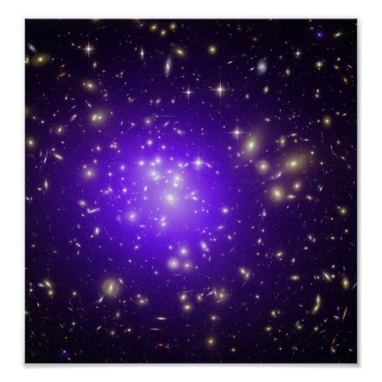 Purple stars haze in space NASA Poster