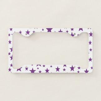 Purple Stars Licence Plate Frame