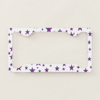 Purple Stars License Plate Frame