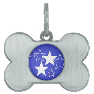 purple stars pet tag