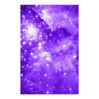 Purple Stars Stationery Design
