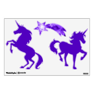Purple Stars Unicorn Wall Sticker