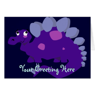 Purple Stegosaurus Greeting Card
