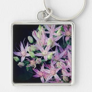Purple Stonecrop Blossom Keychain