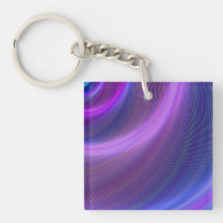 Purple storm Double-Sided square acrylic keychain