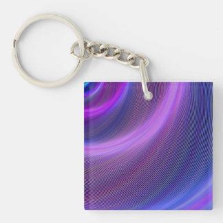 Purple storm Single-Sided square acrylic keychain