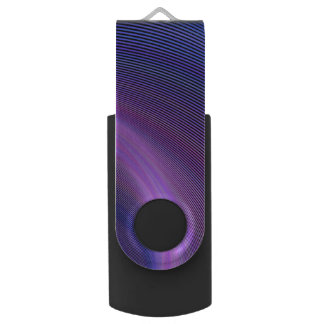 Purple storm swivel USB 3.0 flash drive