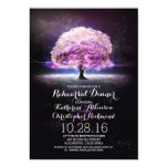 "purple string lights tree rehearsal dinner 5"" x 7"" invitation card"