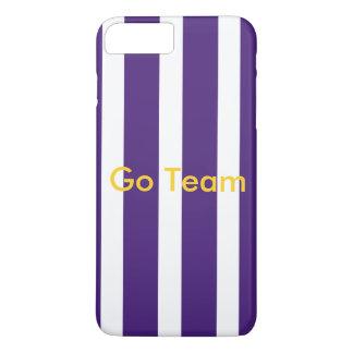 Purple stripe case- customize message iPhone 8 plus/7 plus case