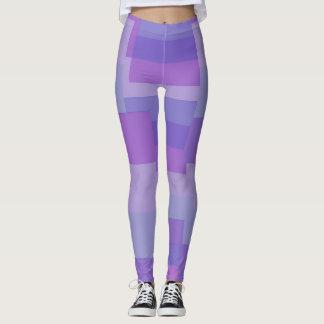 Purple Striped Legs Leggings