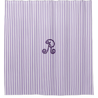 Purple Striped Shower Curtain