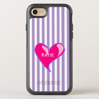 Purple Stripes and Pink Heart iPhone 6S OtterBox Symmetry iPhone 7 Case
