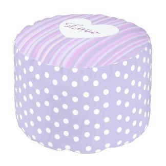 Purple Stripes and Polka Dot Big Pillow Pouf
