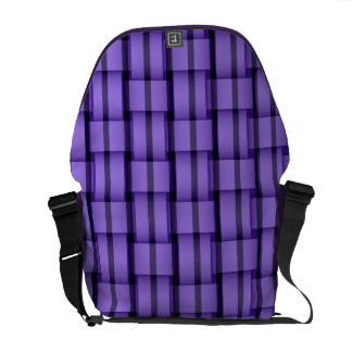 Purple stripes art graphic design commuter bags