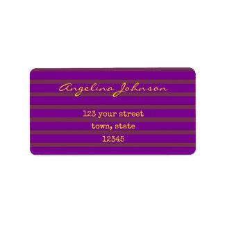 Purple Stripes Classy Elegant Female Chic