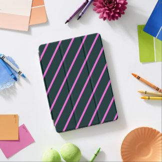 Purple stripes iPad air cover