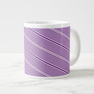 Purple Stripes Large Coffee Mug