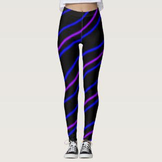 Purple Stripes Leggings