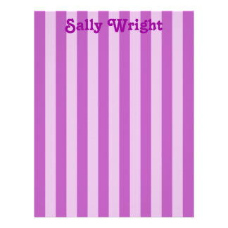 Purple Stripes Letterhead