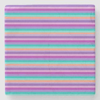 Purple Stripes Marble Stone Coaster